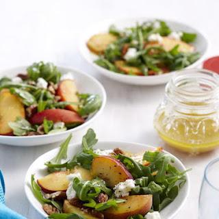 Peach, Arugula and Pecan Salad.