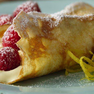Fresh Lemon Cream Crepes.
