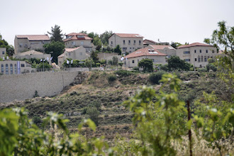 Photo: The Jewish settlement Neve Daniel is close to the hill and farm