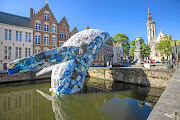 This installation for the 2018 Bruges Triennial by New York architecture firm StudioKCA was made from more than four tonnes of recycled plastic.