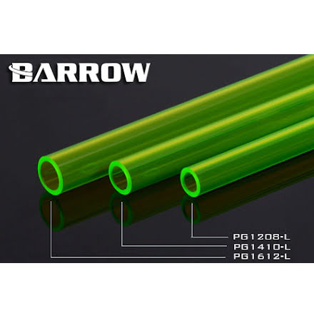 Barrow PETG Tube Ø12/Ø16mm, grønn, 1 stk à 50cm