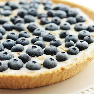 Frozen Blueberry Coconut Yogurt Pie.