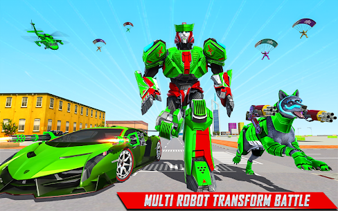 Wolf Robot Transforming Games – Robot Car Games 2