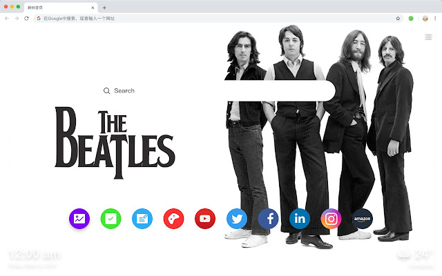 Beatles HD New Tabs Pop Stars Themes