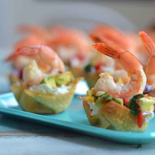 Wonton Shrimp Taco Cups