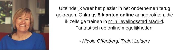 Nicole 5 online klanten
