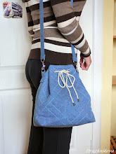 Photo: Эта сумка мягче, здесь плетёнку имитирует декоративная строчка.