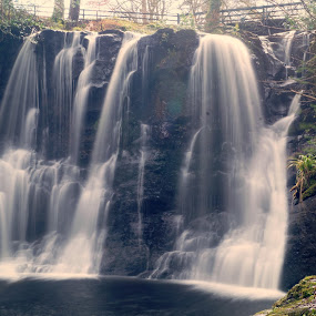 Glenarif waterfall by Marc Lawrence - Nature Up Close Water ( countryside, water, tranquil, nature, waterfall )