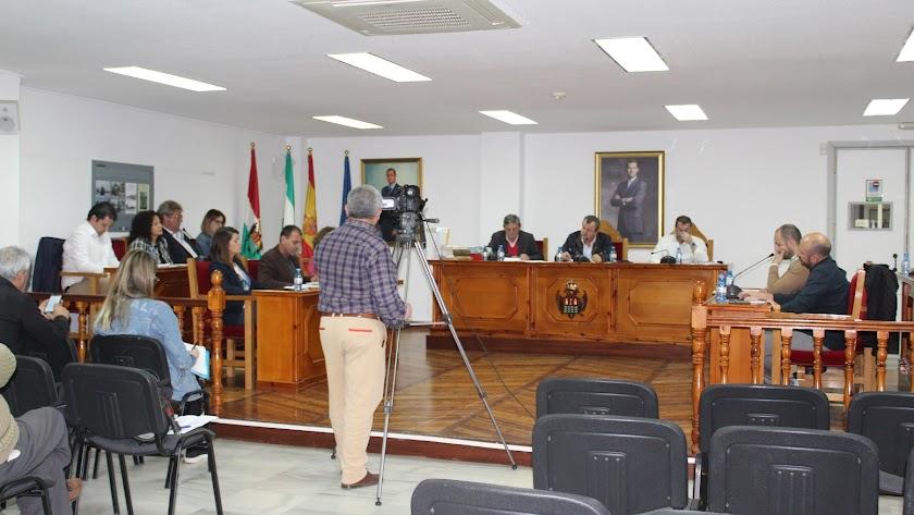 Imagen del Pleno de Pulpí celebrado la tarde de este miércoles.