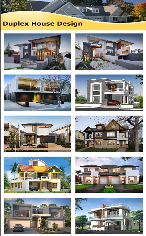 duplex house design screenshot