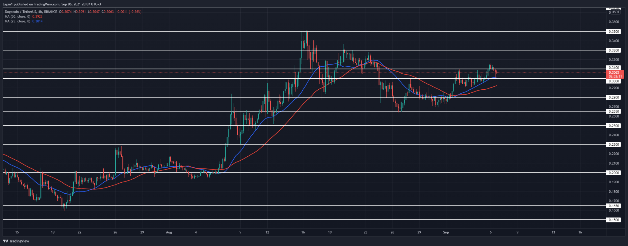 Dogecoin Price Analysis: DOGE retests $0.30 as support, targets $0.33 next?