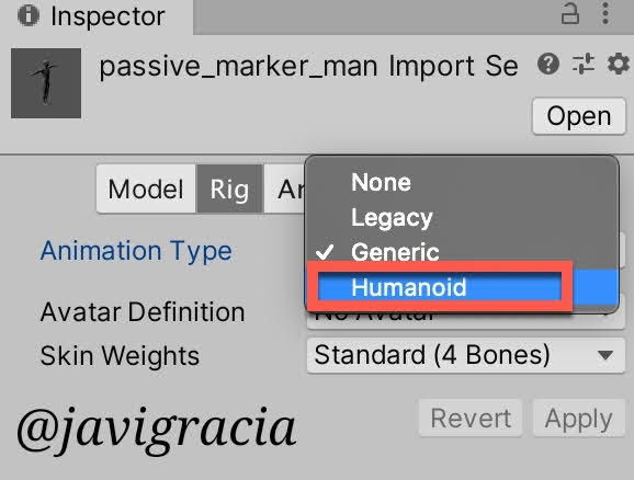 Humanoid Mesh Setting