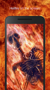 Fiery skeleton live wallpaper - náhled
