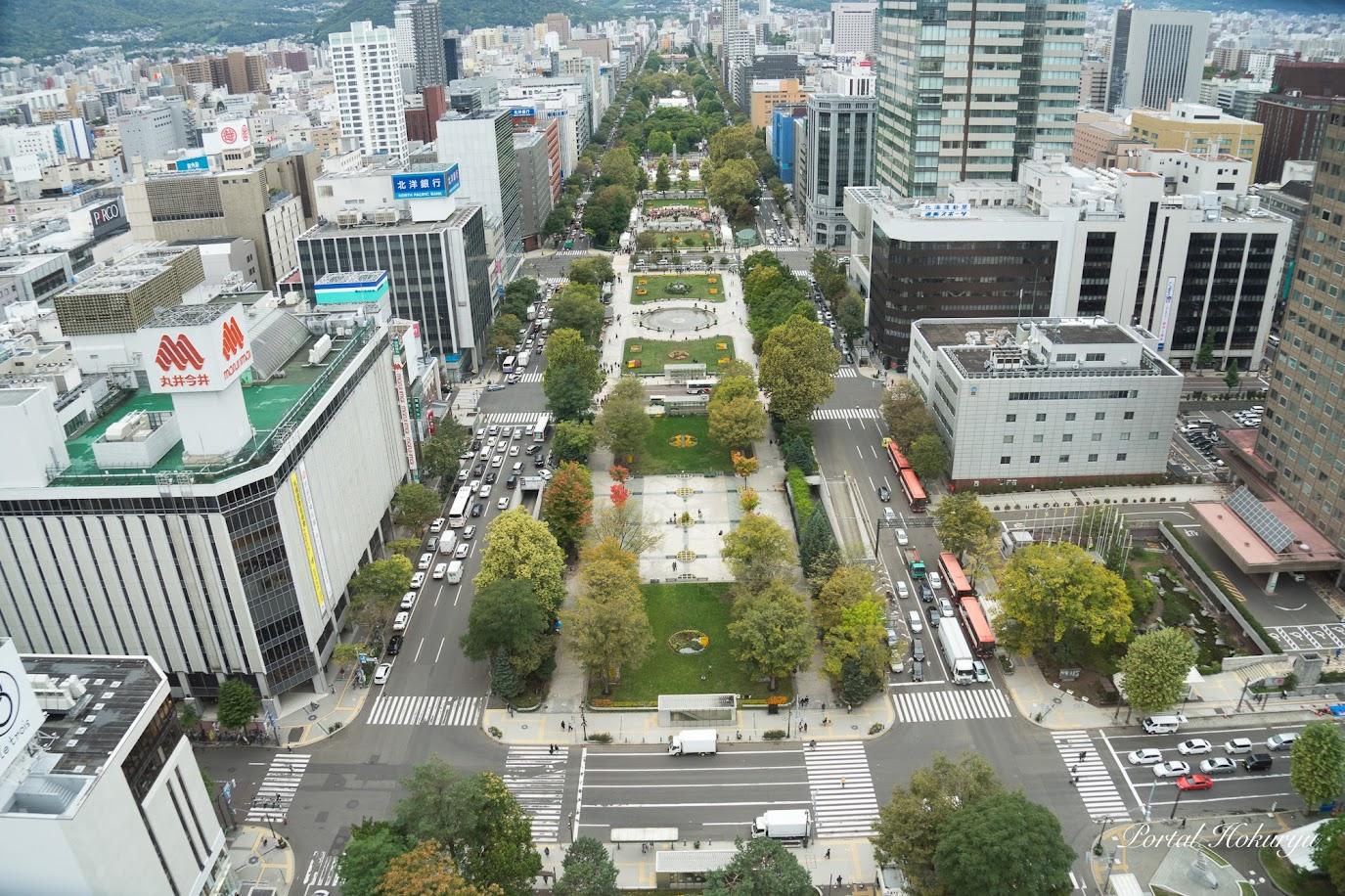 大通公園@さっぽろテレビ塔より