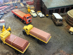 Photo: 023 A variety of road vehicles courtesy of Corgi, Cararama, Base Models and Pocketbond Classix at Nicholas Wheatley's Old Time Brickworks .