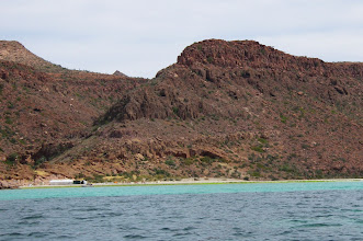 Photo: Approaching camp at Candelero Bay.