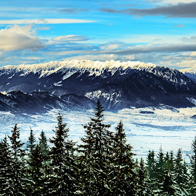 Let's see the world from the top by Valics Lehel - Landscapes Mountains & Hills ( clouds, mountain, green, forest, romania, retezat, travel, landscape, mountains, winter, blue, snow, trees,  )