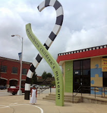Photo: in front of the Greensboro Children's Museum
