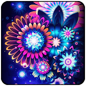 Neon Flowers Butterfly Dream