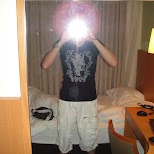 taking a pic in my hotel room in Osaka, Osaka, Japan