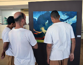 Photo: Exposição de obras dos artistas plásticos Ezio Marcola e Antônio Ailton Rufato, parceiros do Museu Casa de Portinari