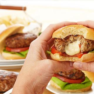 Caprese Stuffed Turkey Burgers