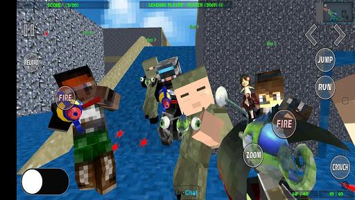 Paintball shooting war game: blocky gun paintball screenshots 4