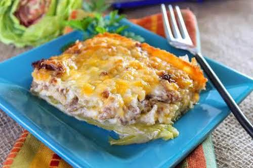 """Chile Rellenos Breakfast Casserole""""This is a great recipe that will feed several..."""