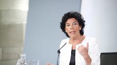 Isabel Celaá, portavoz del Ejecutivo y ministra de Educación y Formación Profesional.