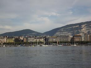 Photo: Saleve Mountain from Geneva Lac Leman