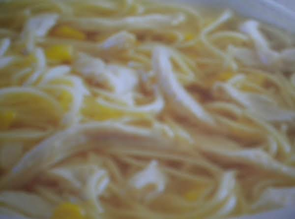 Chicken, Noodle, & Corn Soup Recipe