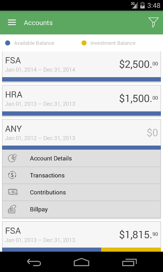 NBS Benefits Mobile- screenshot