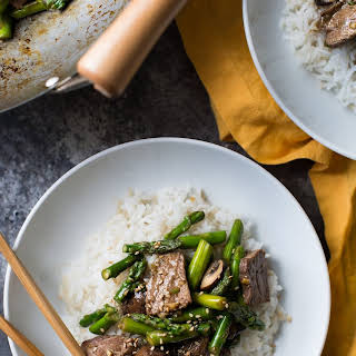 Stir-Fried Beef and Asparagus.