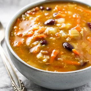 Hearty Vegetable Soup with Bulgur.
