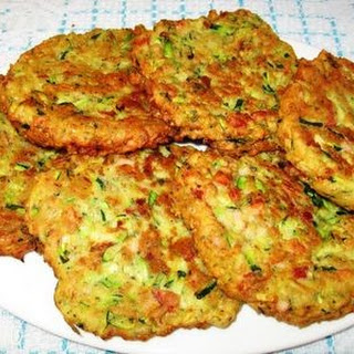 Zucchini, Chorizo and Ham Patties.