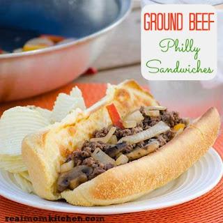 Ground Beef Philly Sandwiches.