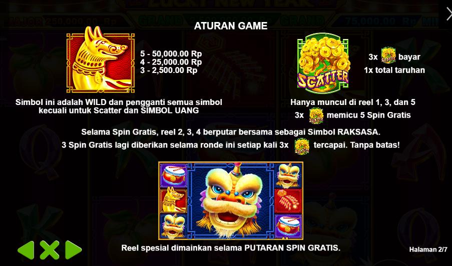 Aturan Game Judi Slot Online Lucky New Year Pragmatic Play