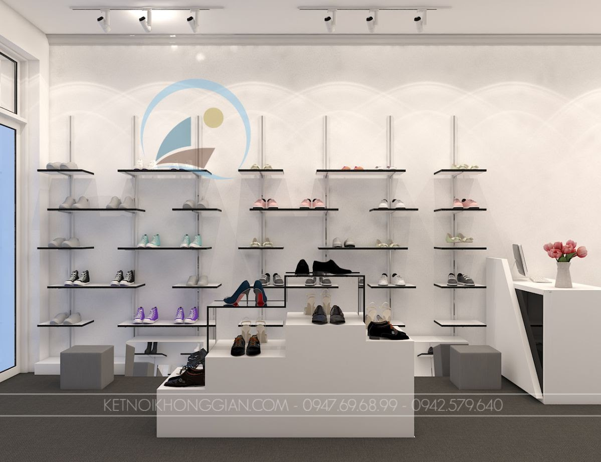 thiết kế shop giày dép Si 11