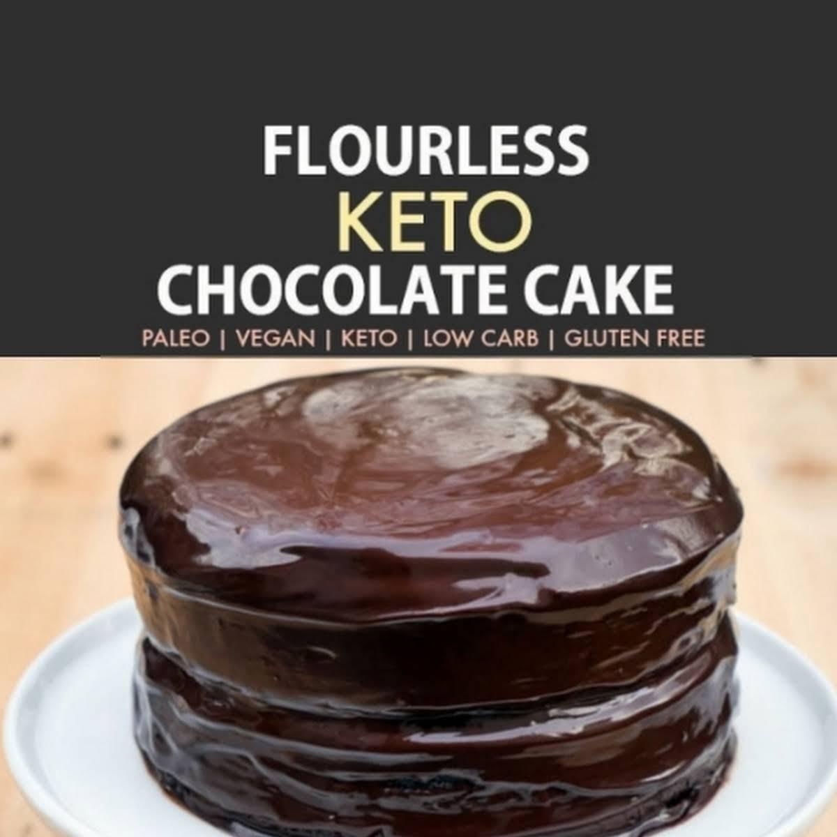 Flourless Eggless Keto Chocolate Cake