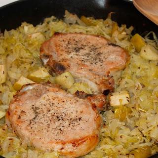 Pork Chop And Sauerkraut Casserole.