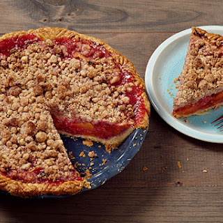 The Easiest Peach-Raspberry Pie with Press-In Crust.