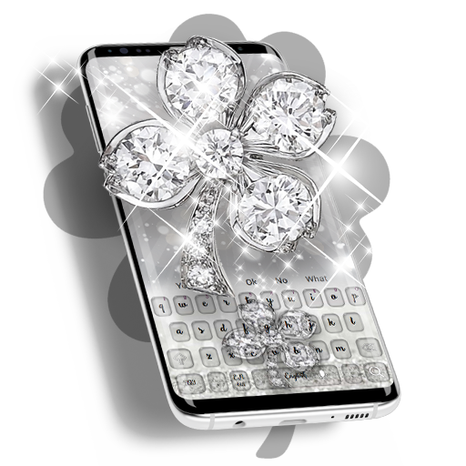 Diamond Lucky Clover Keyboard Theme Android APK Download Free By RIU Design