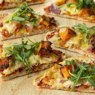 Roast Meat, Bocconcini and Pumpkin Pizza