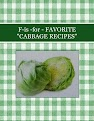 "F-is -for - FAVORITE  ""CABBAGE RECIPES"""