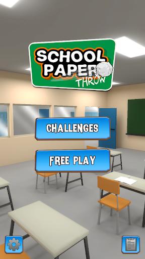 School Paper Throw android2mod screenshots 1