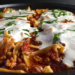 Easy Healthy Skillet Lasagna