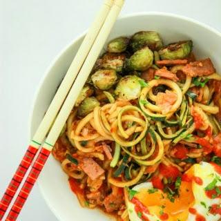 Kimchi Zucchini Noodles.