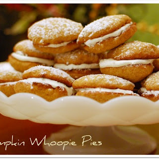 Pumpkin Whoopie Pies with Marshmallow Filling