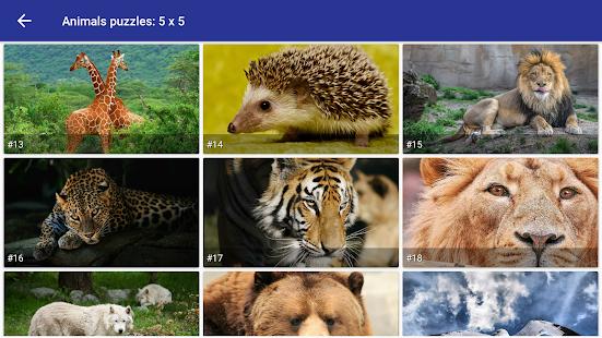 Tile puzzle Wild animals - náhled