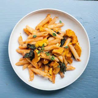 Delicata Squash & Chard Penne Pasta